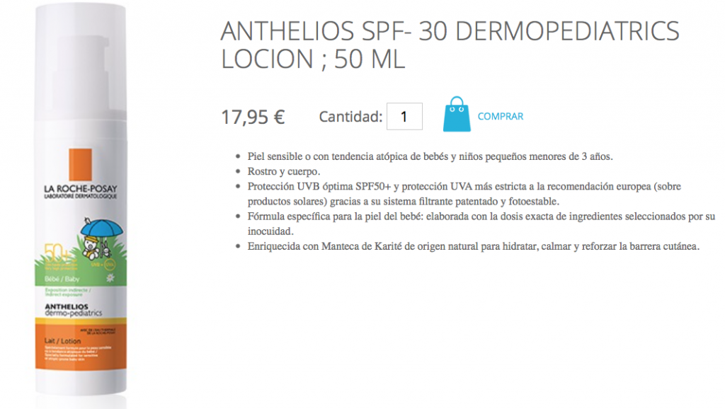 ANTHELIOS SPF- 30 DERMOPEDIATRICS LOCION